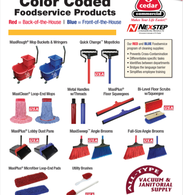 Check Out O-Cedar Color Coded Food Service Line