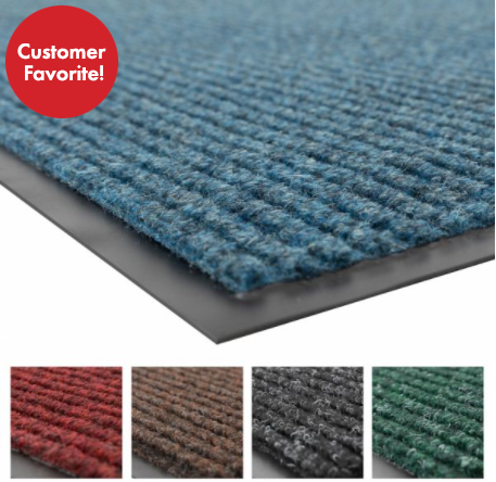 Brush Step Ribbed Mats – Sizes and Colors Vary