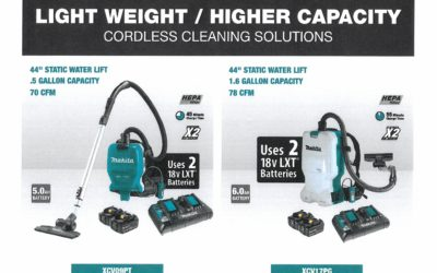 Makita Battery Backpack Vacuum Promo