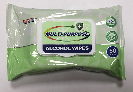 Germisept 70% Alcohol Wipes – 50 Pack – $7.95